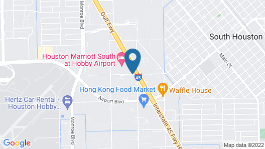 Courtyard by Marriott Houston Hobby Airport Map