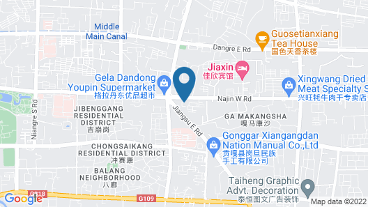 Gakyiling Hotel Tibet Style Map
