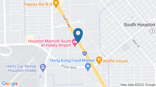 Houston Marriott South at Hobby Airport Map