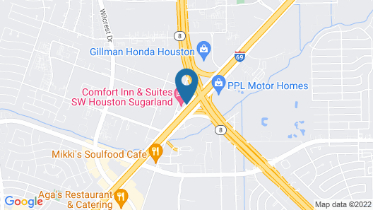 Comfort Inn & Suites SW Houston Sugarland Map