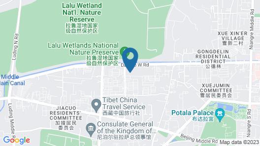 Xana Hotellea Lhasa Potala Palace Beijing Road Map