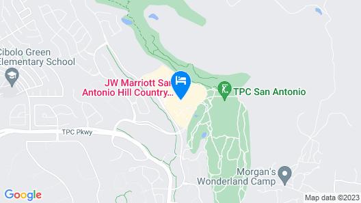 JW Marriott San Antonio Hill Country Resort & Spa Map