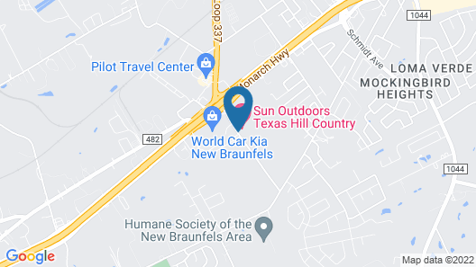 Hill Country Cottage and RV Resort Map