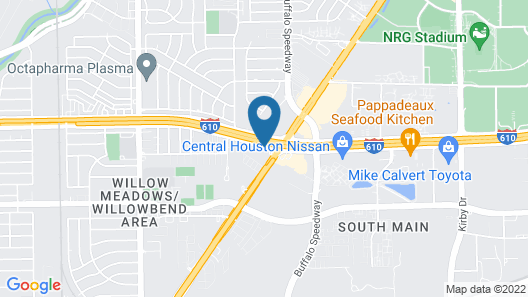 Motel 6 Houston, TX - Medical Center/NRG Stadium Map