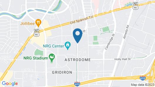 Extended Stay America - Houston - Med Ctr-NRG Park-Fannin Map