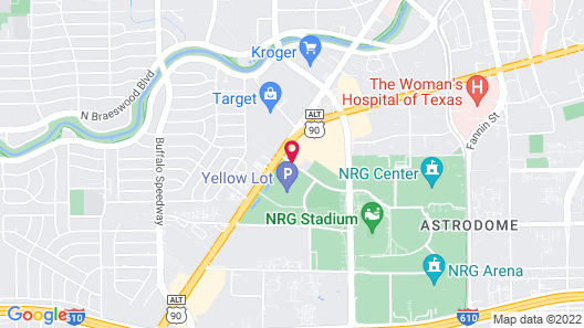Comfort Suites near Texas Medical Center - NRG Stadium Map