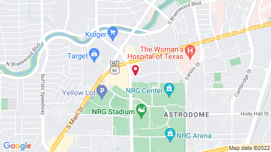 Extended Stay America Suites Houston Med Ctr NRG Park Kirby Map