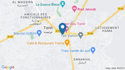 Hôtel Amoudou Map