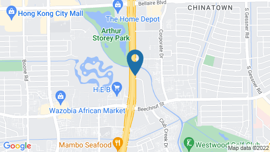 Comfort Suites near Westchase on Beltway 8 Map