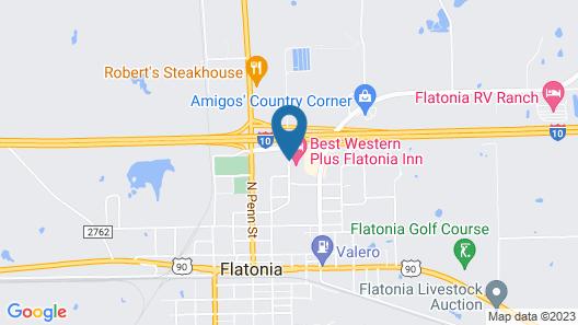Best Western Plus Flatonia Inn Map