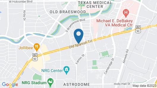 Hampton Inn & Suites Houston Medical Center NRG Park Map
