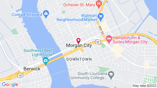 Morgan City Motel Map