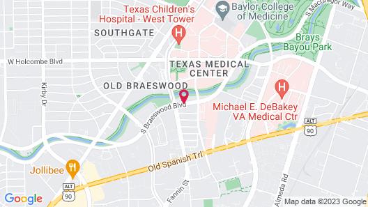 Extended Stay America -Houston-Med Ctr-NRG Pk-Braeswood Blvd Map