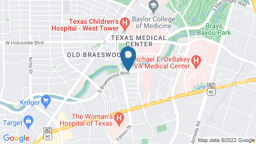 Extended Stay America Suites Houston Med Ctr Braeswood Bl Map