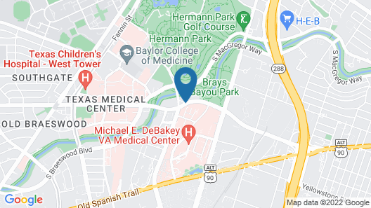 Locale Houston - Medical Center at Vantage Map