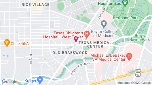 Wyndham Houston - Medical Center Hotel and Suites Map