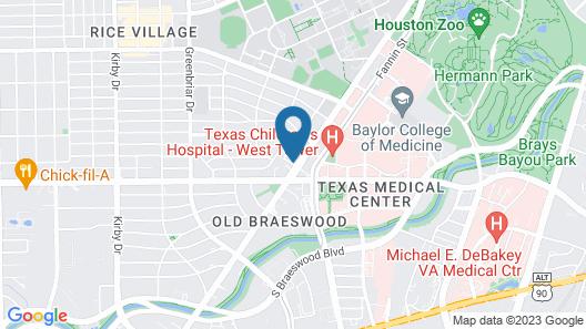 InterContinental Houston Medical Center, an IHG Hotel Map