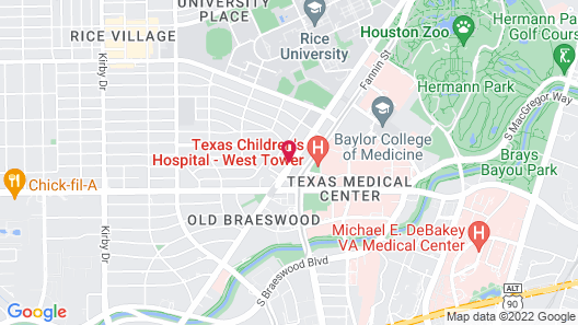 SureStay Plus Hotel by Best Western Houston Medical Center Map