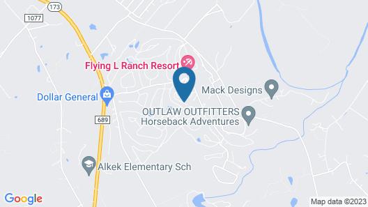 Flying L Ranch Resort Map