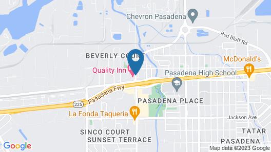 Quality Inn Pasadena Houston Map