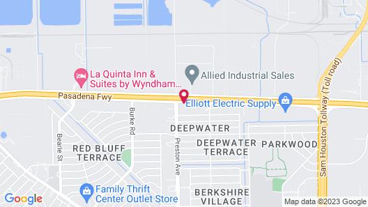 Motel 6 Pasadena, TX Map