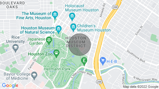 Domio Museum District Stunning 2BR 5 Min to Houston Zoo Map