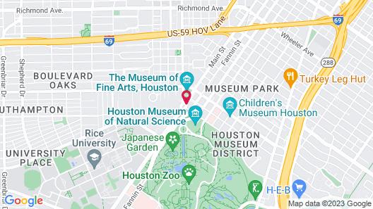 Hotel Zaza Houston Museum District Map