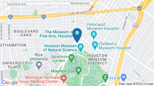 Hotel Zaza Houston Museum District Map