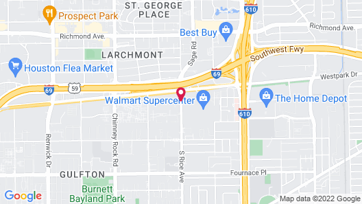 Towneplace Suites by Marriott Houston Galleria Area Map