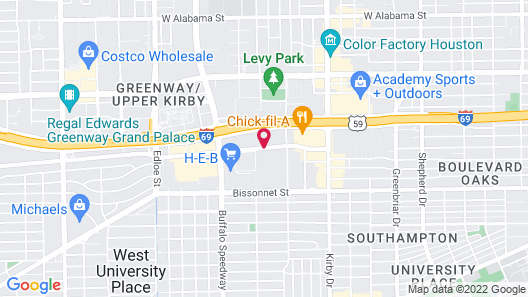Courtyard by Marriott Houston West University Map