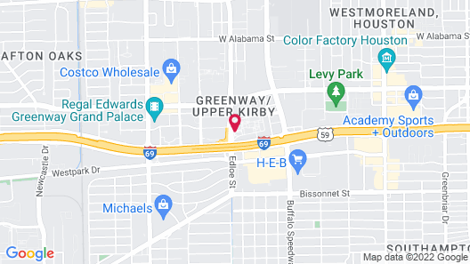 DoubleTree by Hilton Hotel Houston - Greenway Plaza Map