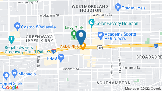 Crowne Plaza Houston River Oaks, an IHG Hotel Map