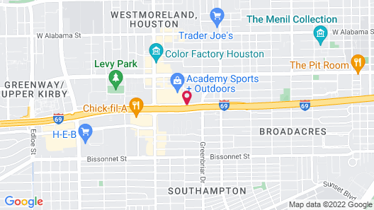 Extended Stay America - Houston - Greenway Plaza Map