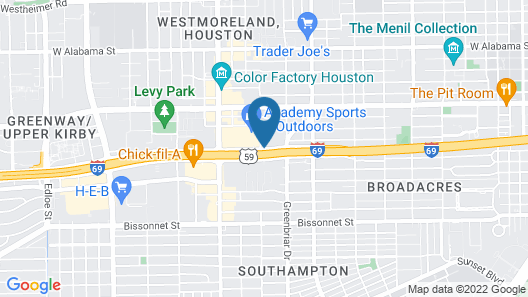 Extended Stay America Suites Houston Med Ctr Greenway Plaza Map
