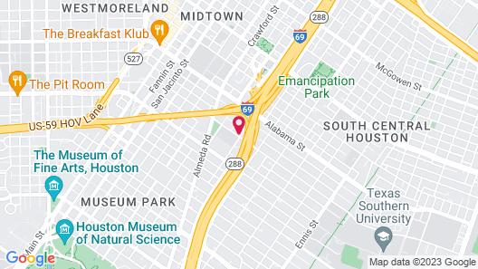 Wanderstay Houston Hostel Map