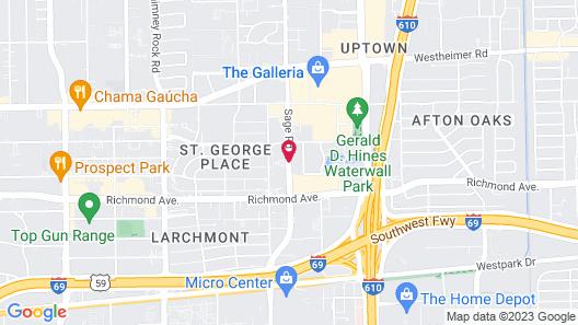 Hilton Garden Inn Houston/Galleria Area Map