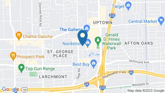 Hotel Indigo At The Galleria Map