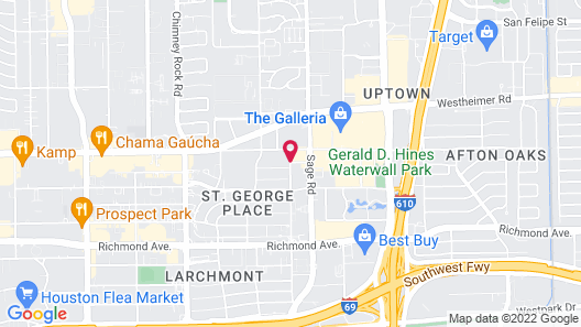 Courtyard by Marriott Houston by the Galleria Map