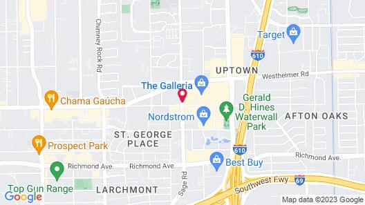 Hyatt Regency Houston/Galleria Map