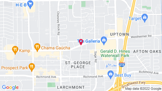 Aloft Houston by the Galleria Map