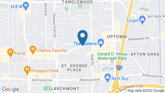 DoubleTree by Hilton Hotel & Suites Houston by the Galleria Map