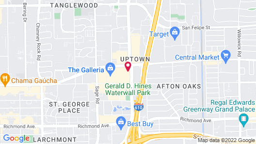 The Westin Oaks Houston at the Galleria Map