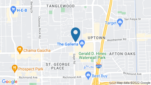 JW Marriott Houston by the Galleria Map