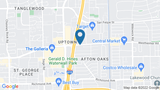 Extended Stay America Houston - Galleria - Westheimer Map