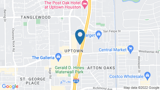 Extended Stay America Suites Houston Galleria Uptown Map