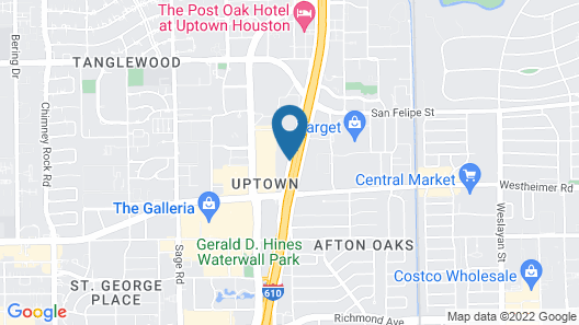 Extended Stay America Houston - Galleria - Uptown Map
