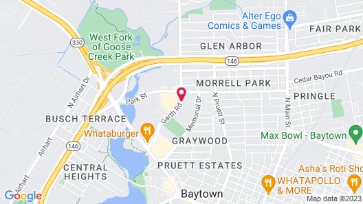 Deluxe Inn & Suites Baytown Map