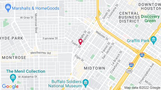 La Maison in Midtown an urban bed and breakfast Map