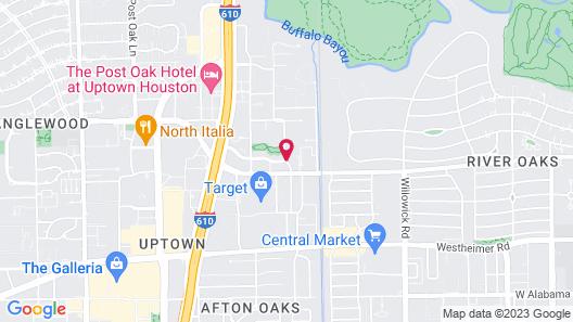 The St. Regis Houston Map