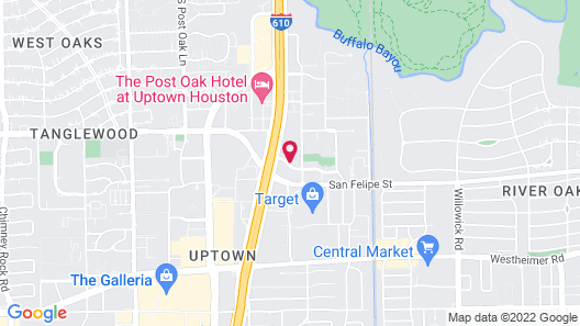 Hampton Inn by Hilton Houston-Near The Galleria Map